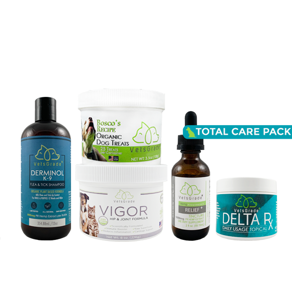 VetsGrade® |  Dog Total Care Pack  |  4200mg Hemp Derived CBD |  Pet Bundle