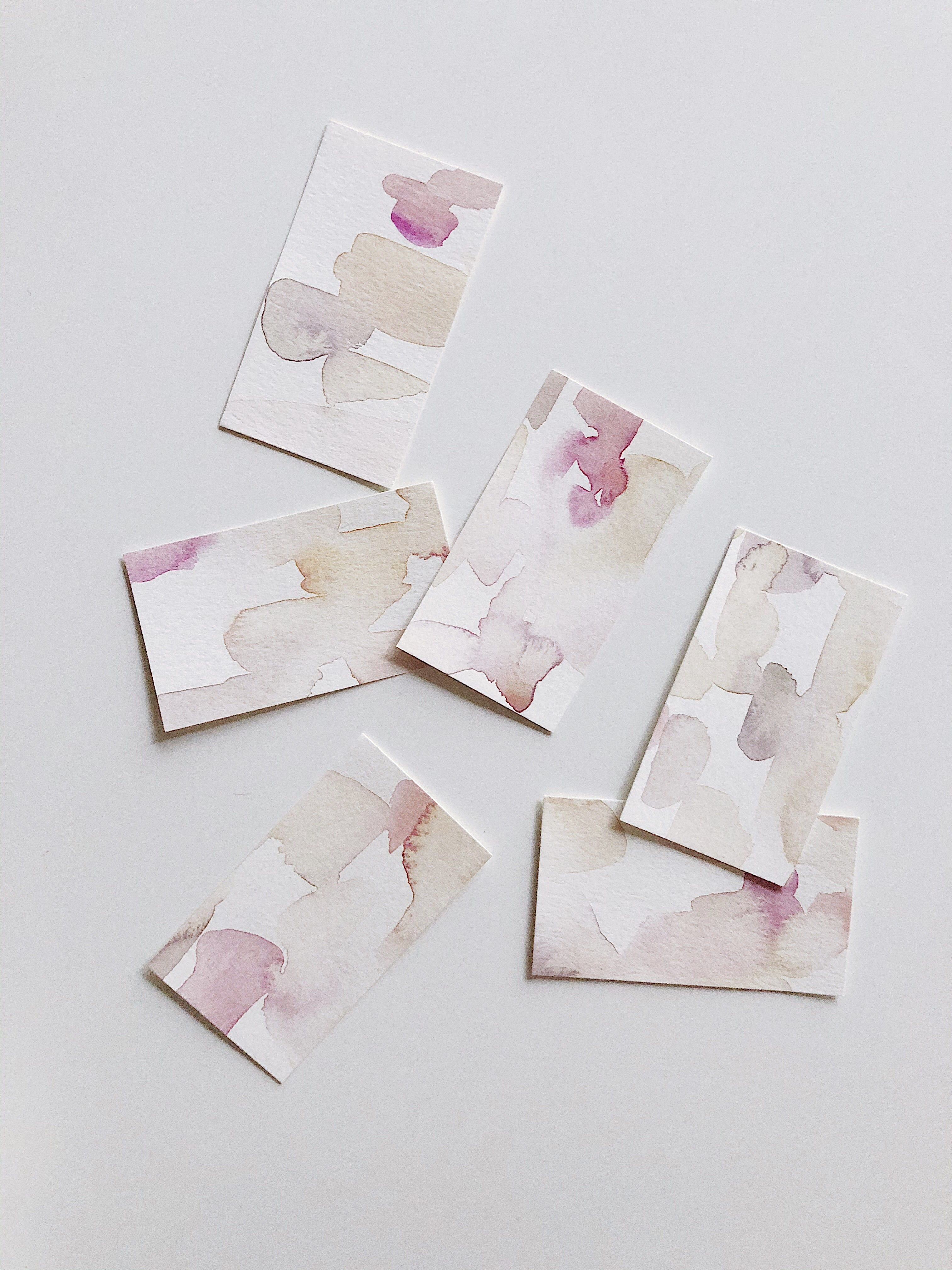 Hand Painted Place Cards, 50 Pack
