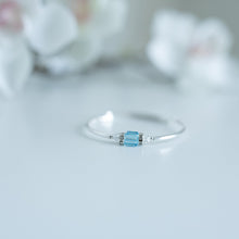 Load image into Gallery viewer, Birthstone Bracelet - Square Swarovski Crystal
