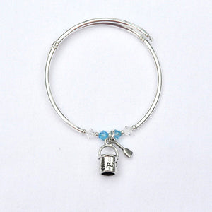 Sand Pail and Shovel Charm Bracelet