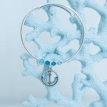Load image into Gallery viewer, Anchor in Rope Charm Bracelet