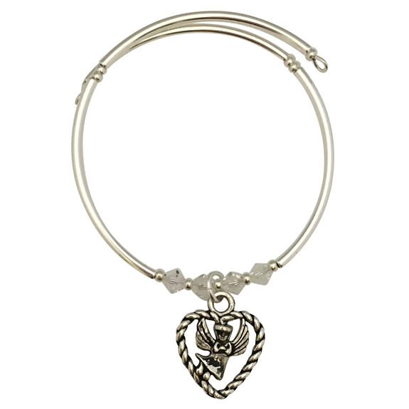 Angel in a Heart Charm