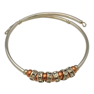 copper art deco bracelet