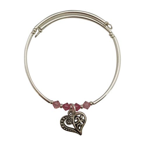 fancy heart charm bracelet