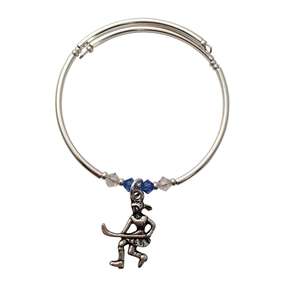 Field Hockey Charm Bracelet