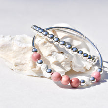 Load image into Gallery viewer, Sterling Silver Beaded Wrap Bracelet