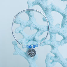 Load image into Gallery viewer, Sand Dollar Pewter Charm Bracelet