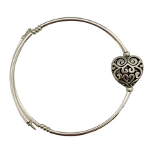 Load image into Gallery viewer, Scroll Heart Charm Bracelet