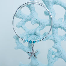 Load image into Gallery viewer, Pewter Starfish Charm Bracelet