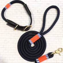 SS19 Black Hudson Collar and Leash Set