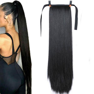 Super Long Natural Straight Hair Ponytail