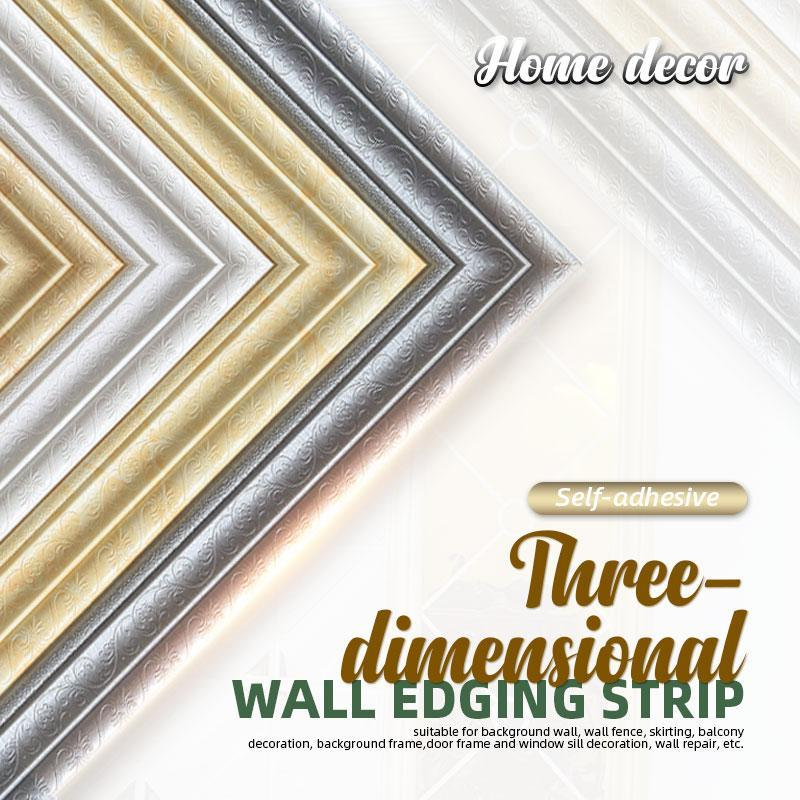 Self-adhesive 3D Wall Edging Strip (7.55 feet)