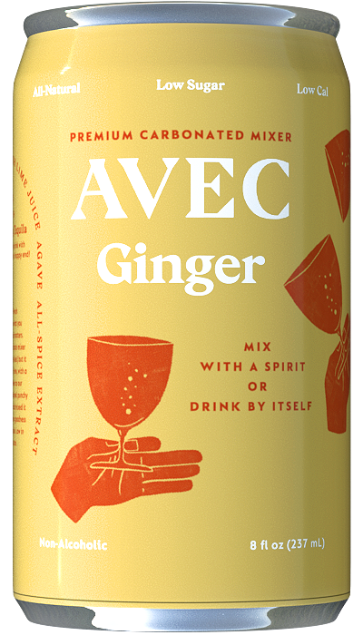 Avec All-Natural Ginger Mixer Can