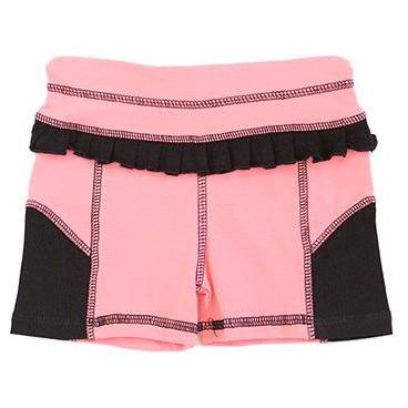 AE Sport Black & Bubblegum Bike Shorts