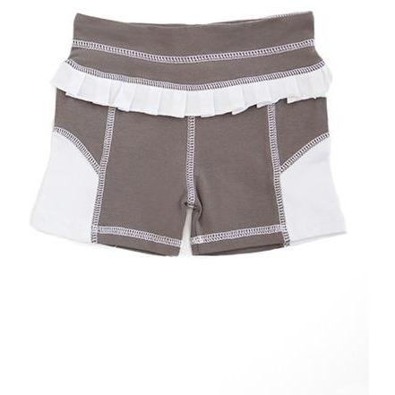 AE Sport Dark Gray & White Bike Shorts