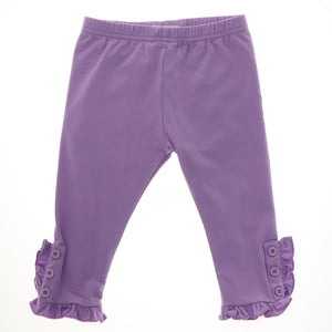 Maddie Button Ruffle Capri - Adorable Essentials, LLC