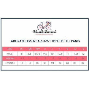 Stripes Triple Ruffle Pants - In Stock!!! - Adorable Essentials