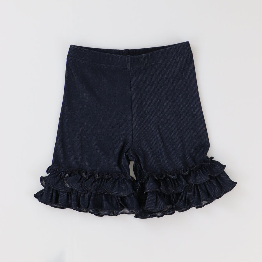 Denim Ruffle Shorties - Adorable Essentials