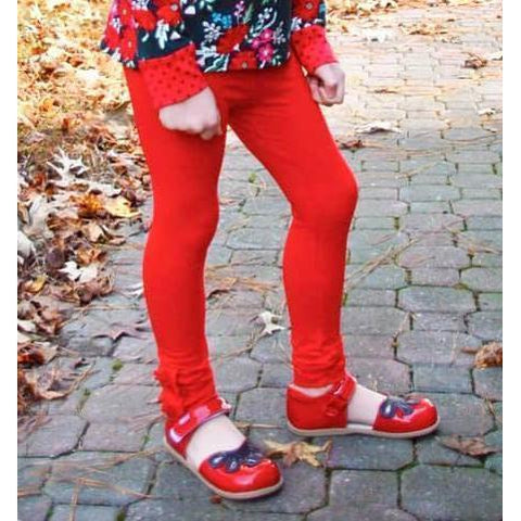 Adorable Essentials, Girls Button Ruffle Pants,Bottoms,Adorable Essentials,Adorable Essentials, LLC