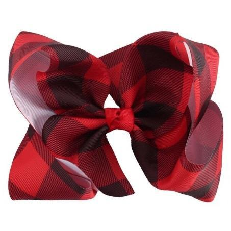 "5"" Buffalo Plaid Bow - Adorable Essentials"