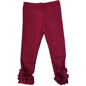 Girls Button Ruffle Pants - Adorable Essentials, LLC