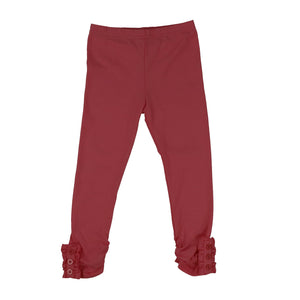 Girls Button Ruffle Pants - Adorable Essentials