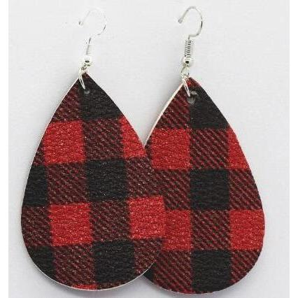 Buffalo Plaid Earrings - PreOrder - Adorable Essentials