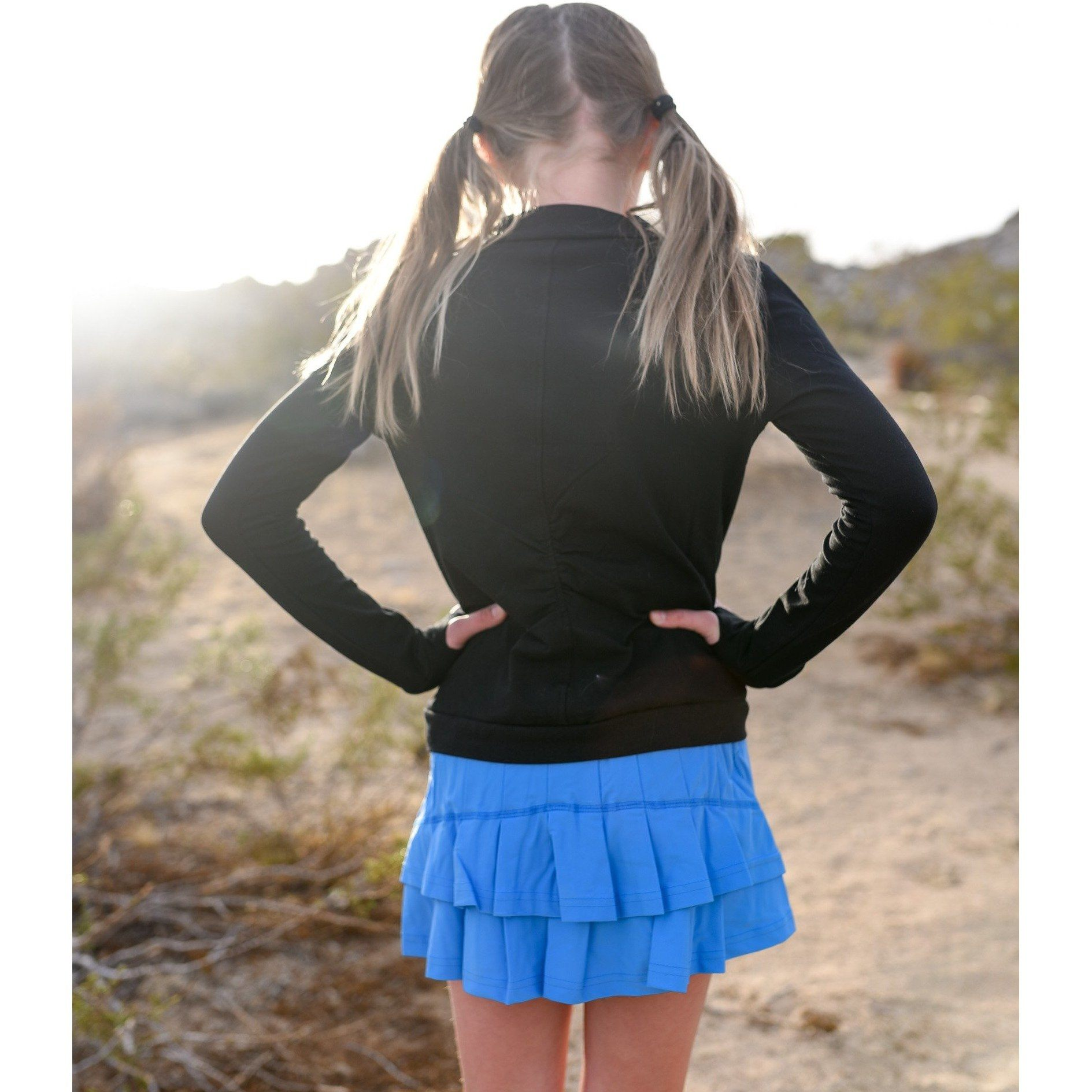 Girls Cocoon Skirt - Sky Blue - Adorable Essentials, LLC