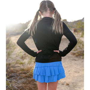 Girls Cocoon Skirt - Sky Blue - Adorable Essentials