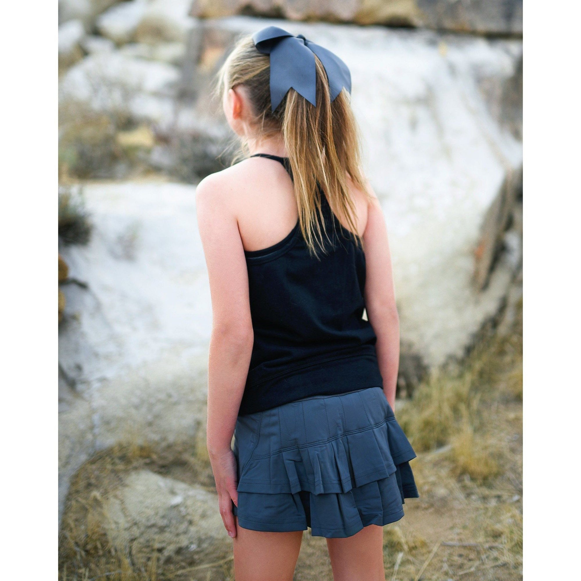 Girls Cocoon Skirt - Dark Gray - Adorable Essentials