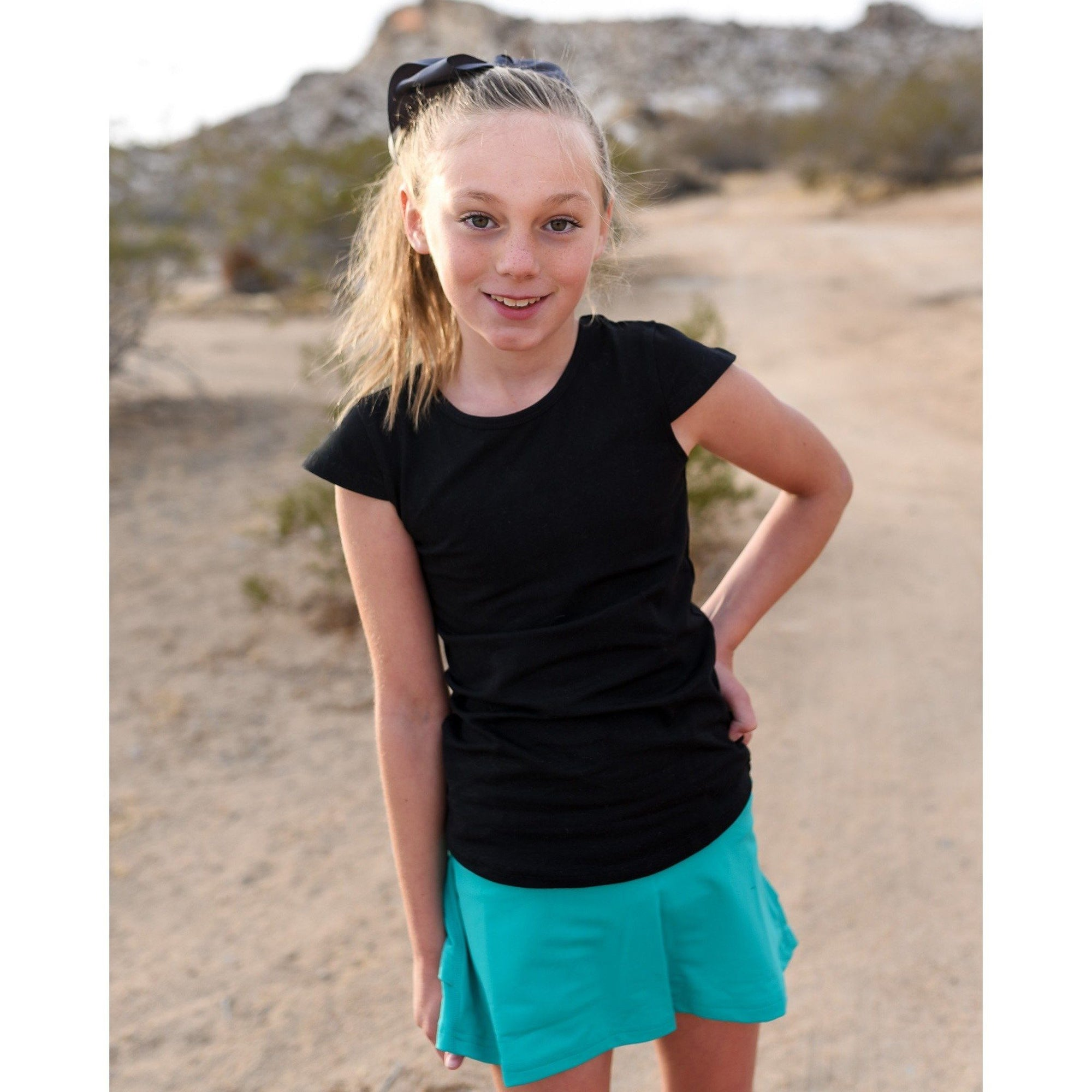 Girls Butterfly Tank - Black - Adorable Essentials