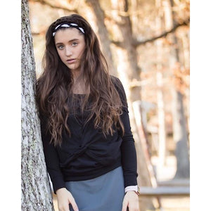Young Adult Crossover Shrug - Black - Adorable Essentials