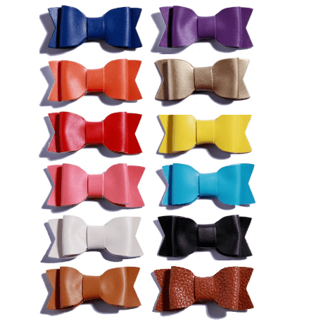 Leather Bow Packs of 12 Colors - Adorable Essentials
