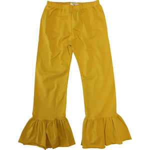 Girls Denim Single Ruffle Pants - Adorable Essentials, LLC