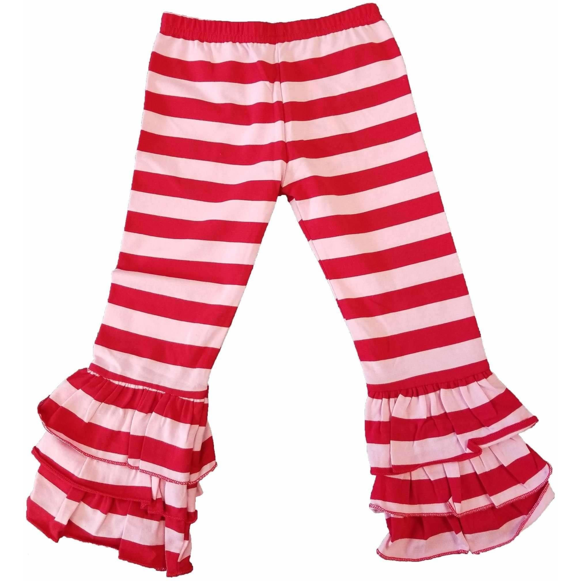 Valentine Stripes Triple Ruffle Pants - In Stock!!! - Adorable Essentials