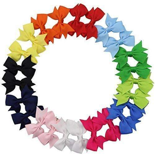 "2"" Pinwheel Piggy Bow Pack - 12 matching bow sets - Adorable Essentials"