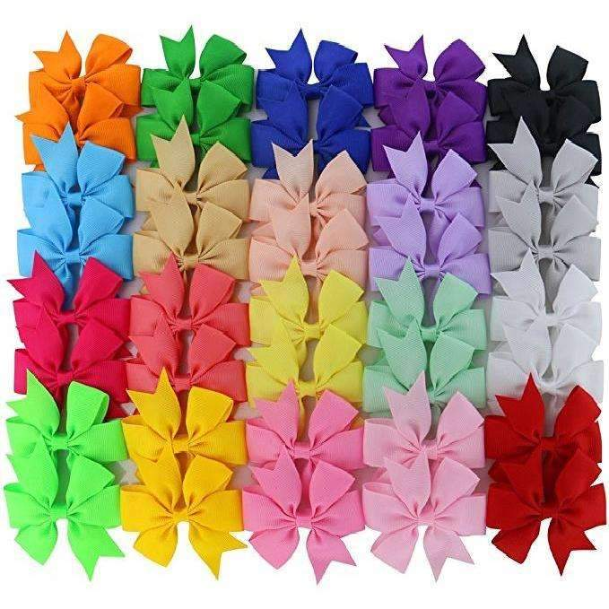 "3"" Piggy Bow Pack - 20 matching bow sets - Adorable Essentials"