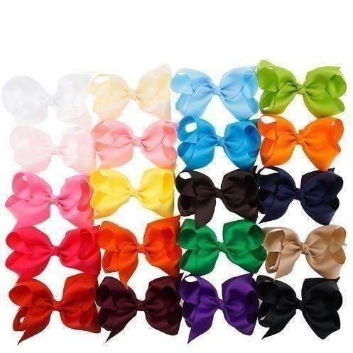 "4"" Bow Pack - 20 different colors - Adorable Essentials"