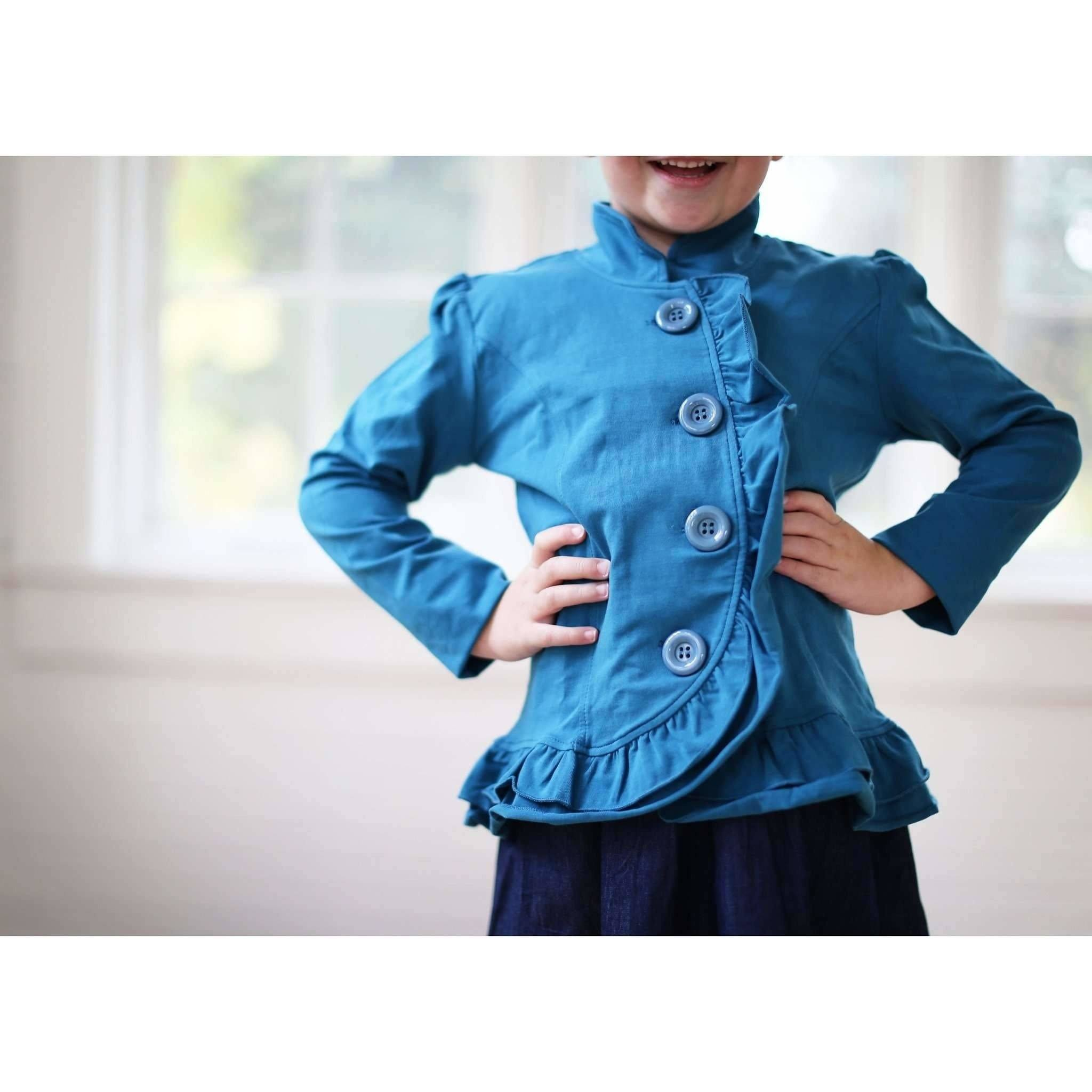 Adorable Essentials, Big Button Jacket,Tops,Adorable Essentials, LLC