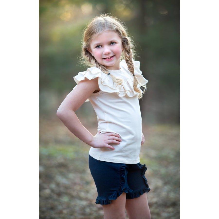 Ruffled Shoulder Tank - Adorable Essentials