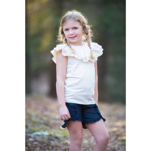Ruffled Shoulder Tank - Adorable Essentials, LLC