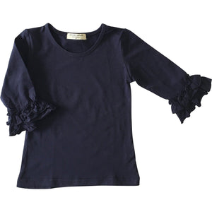 Baby Mid-Sleeve Ruffle Shirts - Adorable Essentials, LLC