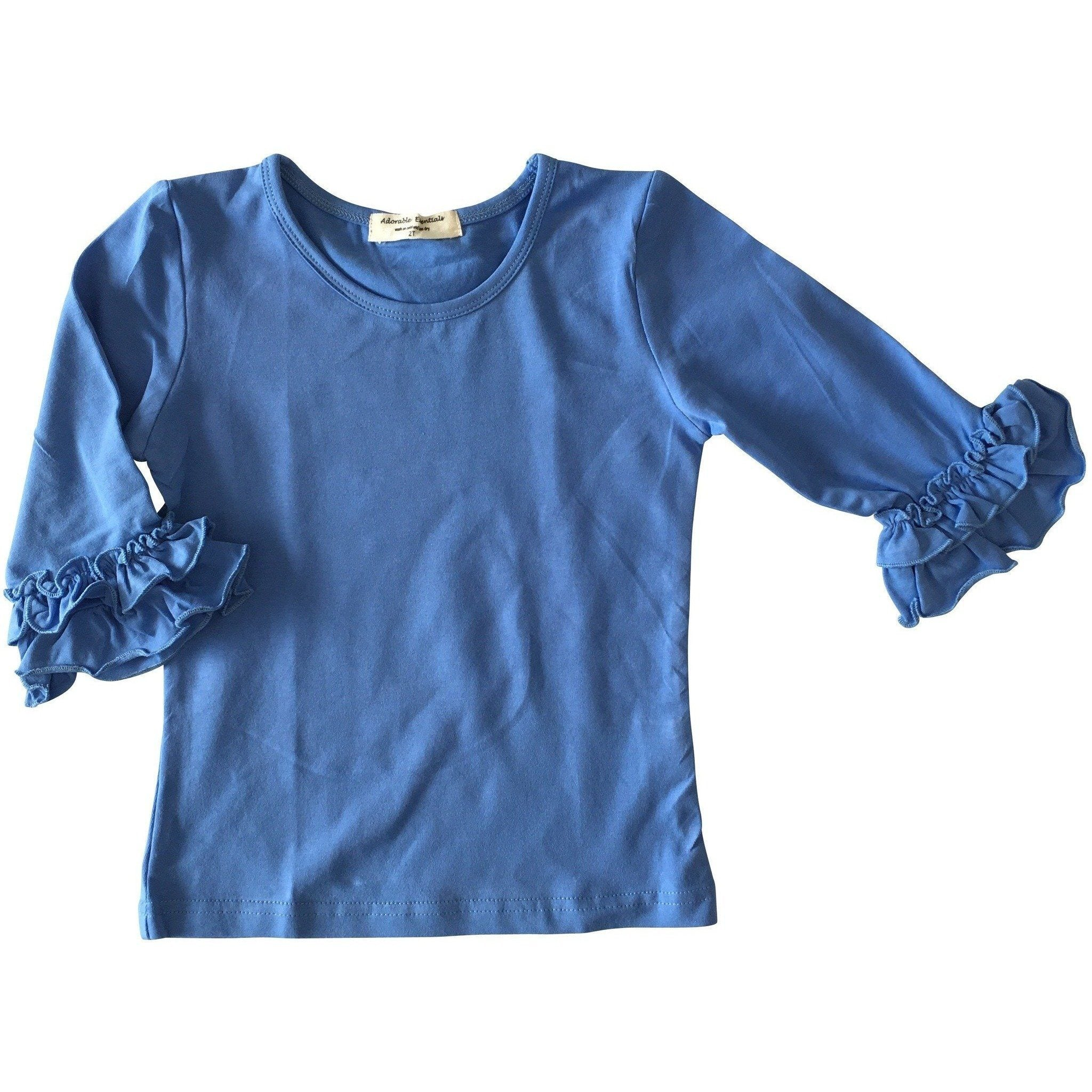 Adorable Essentials, Baby Mid-Sleeve Ruffle Shirts,Baby Tops,Adorable Essentials, LLC