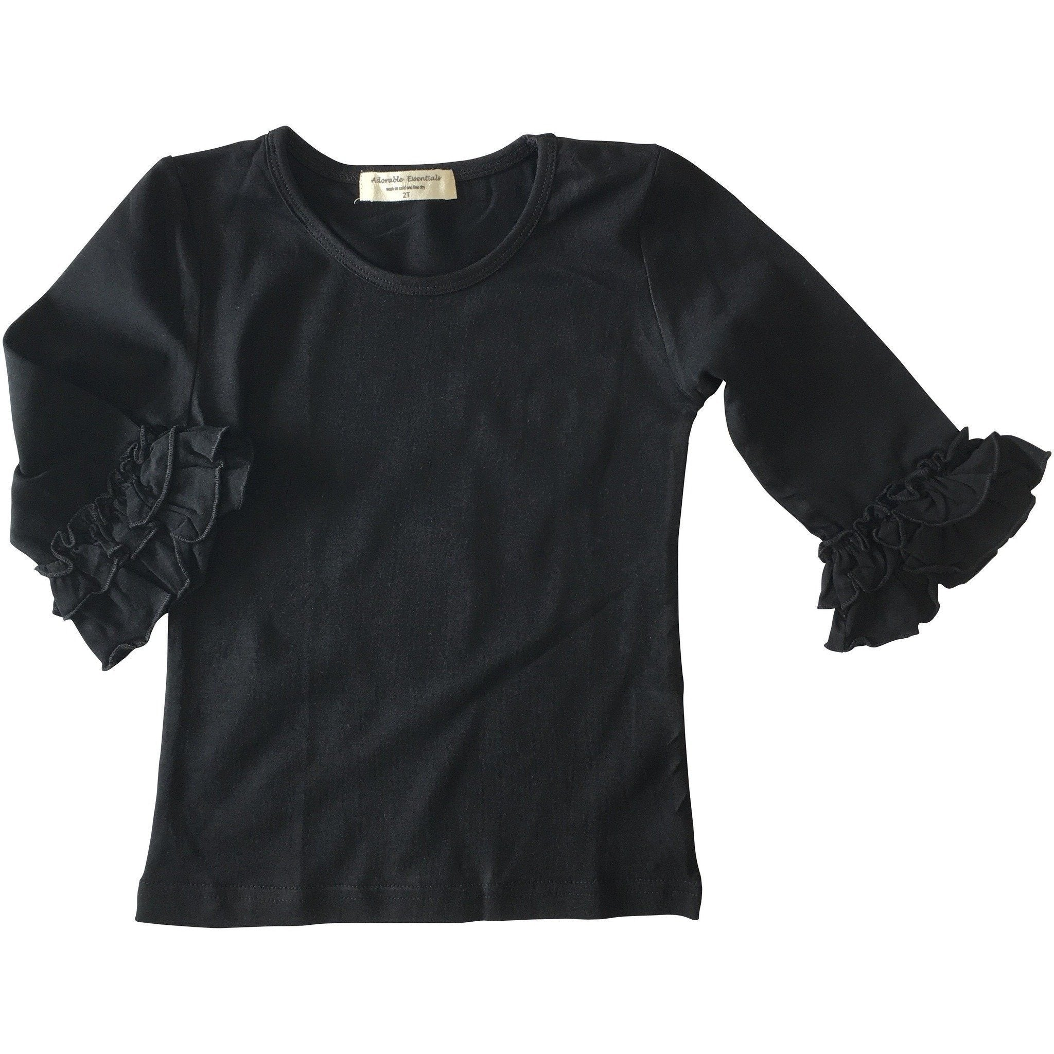 Baby Mid-Sleeve Ruffle Shirts - Adorable Essentials