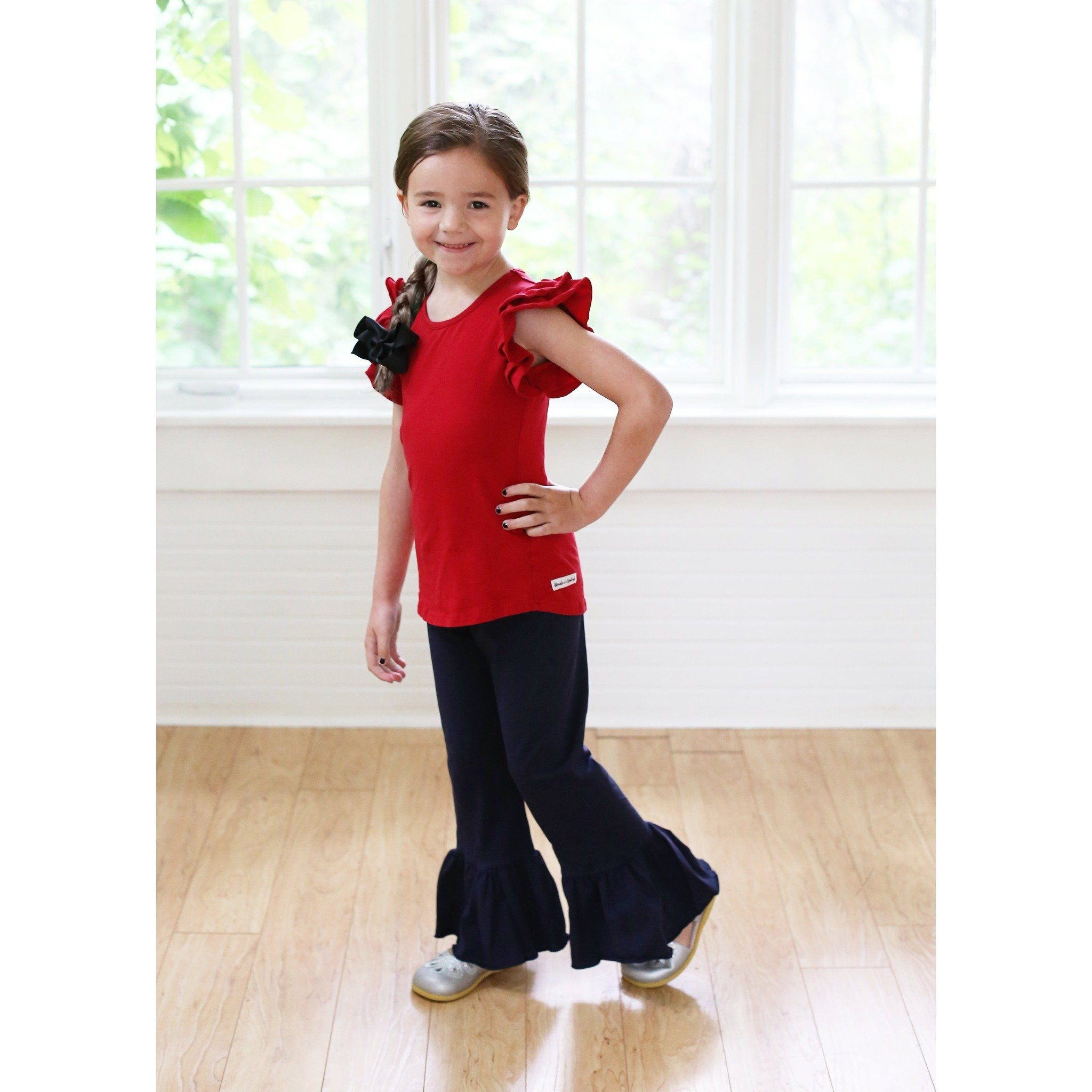 Adorable Essentials, Girls Single Ruffle Pants,Bottoms,Adorable Essentials, LLC