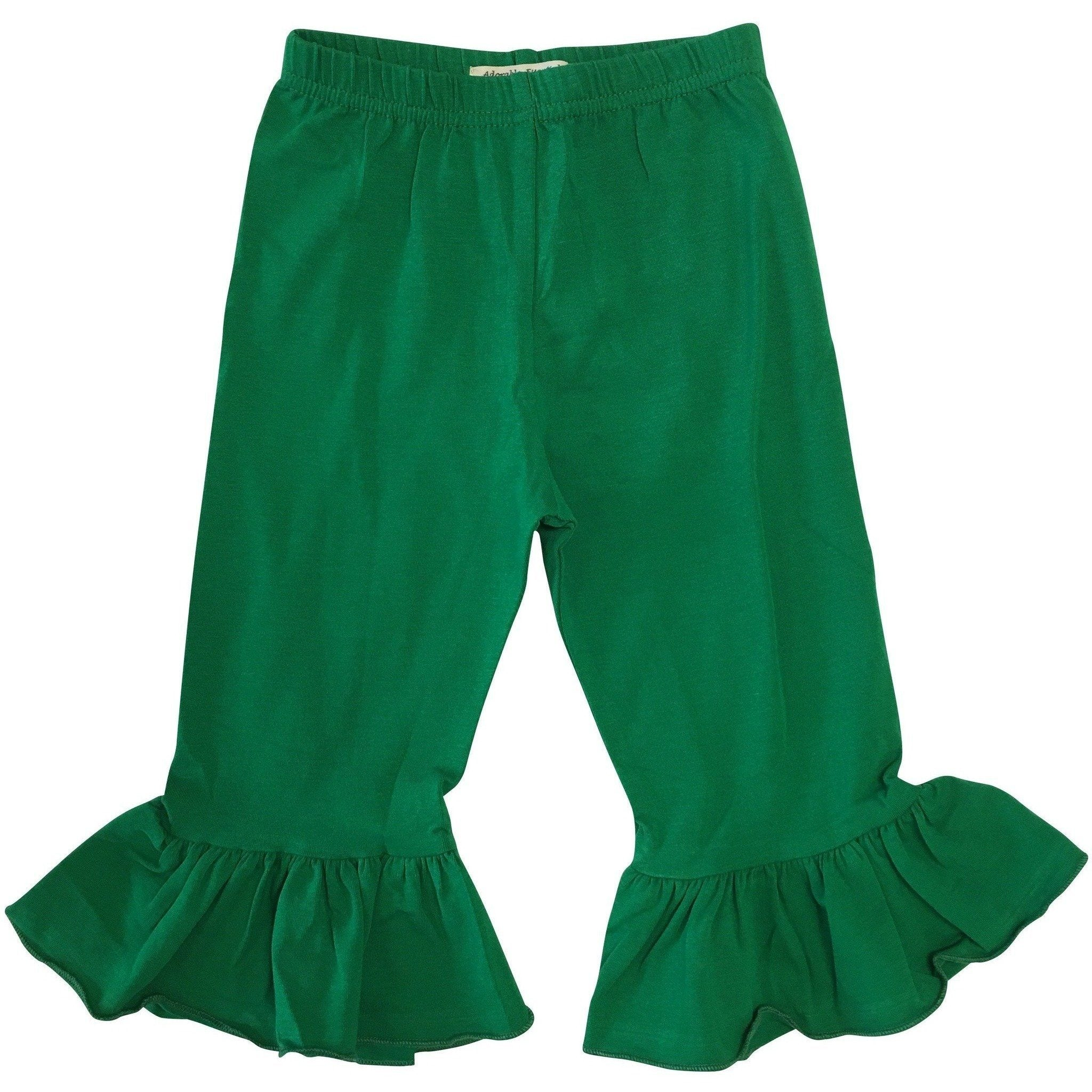 Girls Single Ruffle Pants - Several Colors - Adorable Essentials