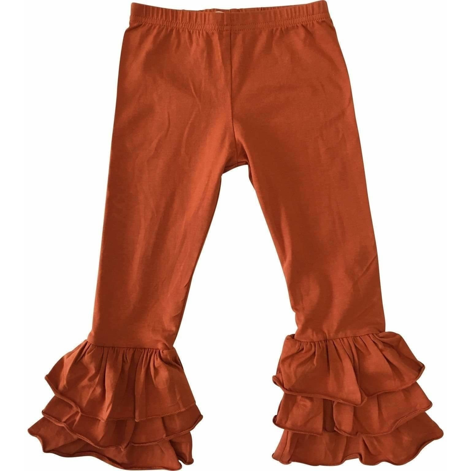 Adorable Essentials, Girls Triple Ruffle Pants,Bottoms,Adorable Essentials, LLC