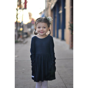 Denim Long Sleeve Bella Dress - Retiring - Adorable Essentials