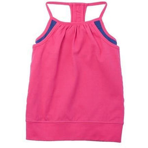 Girls Double Layer Tank - Bright Pink - Adorable Essentials, LLC