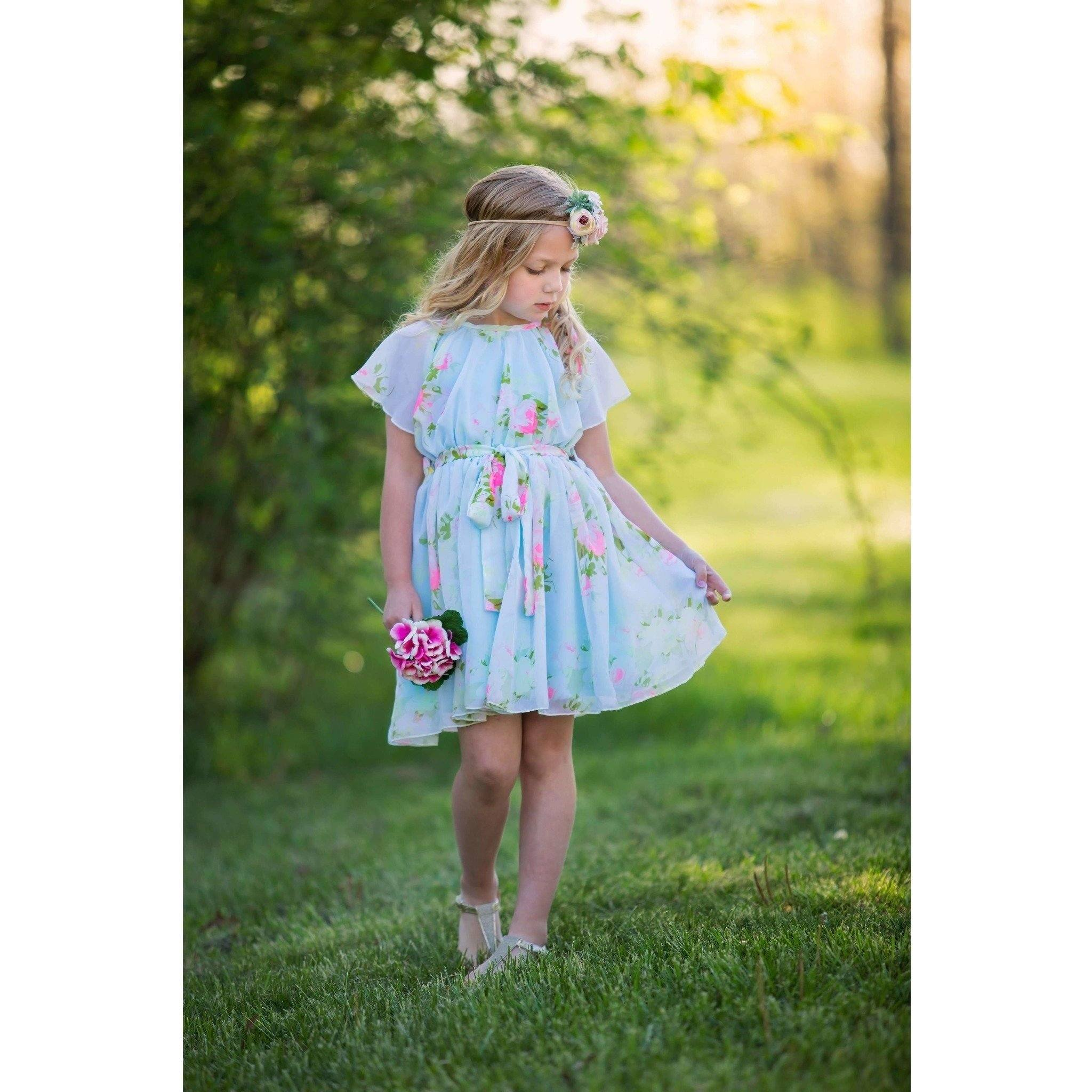 Adorable Essentials, Floral Chiffon Dress,Dresses,Adorable Essentials, LLC